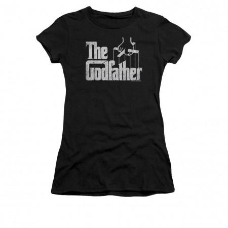 The Godfather Logo Black Juniors T-Shirt