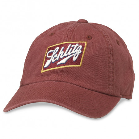 Schlitz Red Logo Adjustable Strapback Hat