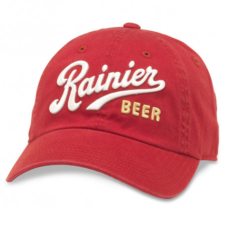 Rainer Adjustable Red Strapback Hat