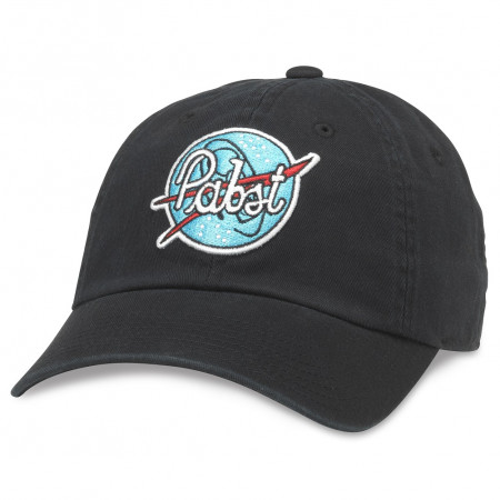 Pabst Blue Patch Adjustable Black Strapback Hat