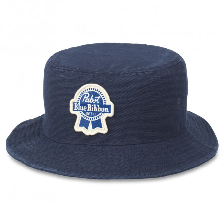 Pabst Blue Ribbon Beer Navy Blue Forrester Bucket Hat