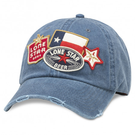 Lone Star Navy-Blue Iconic Patches Adjustable Strapback Hat