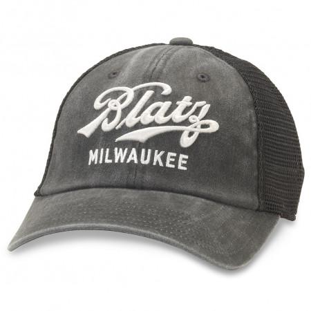 Blatz Beer Black Adjustable Mesh Snapback Hat