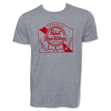 PBR Grey Ribbon Logo Beer Tee Shirt