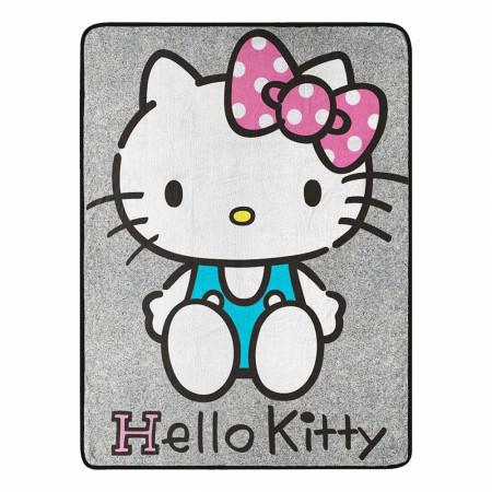 "Hello Kitty Micro Raschel 46""x 60"" Throw Blanket"