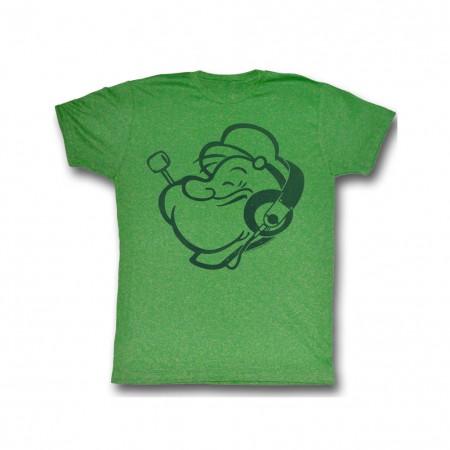 Popeye Headphones T-Shirt