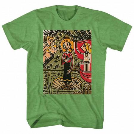 Popeye Mosaic Olive Kelly TShirt