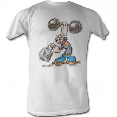Popeye Popeye Sketch T-Shirt
