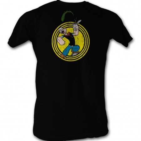 Popeye Popeye Spinach Circle T-Shirt