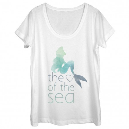 Disney The Little Mermaid Heart Of The Sea White Juniors T-Shirt