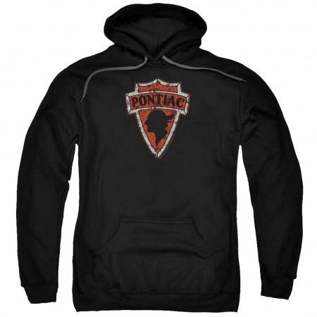 Pontiac Early Pontiac Arrowhead Black Pullover Hoodie