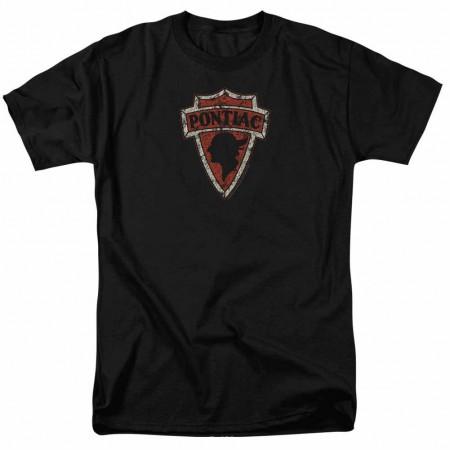 Pontiac Early Pontiac Arrowhead Black T-Shirt