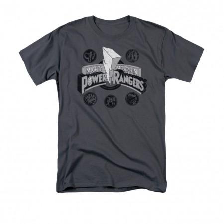 Power Rangers Power Coins Gray T-Shirt