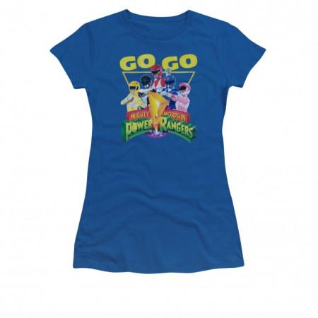 Power Rangers Go Go Blue Juniors T-Shirt