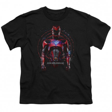 Power Rangers Red Ranger Black Youth Tshirt
