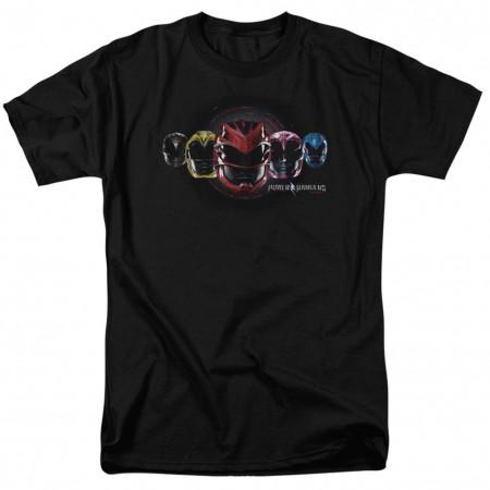 Power Rangers The Movie Helmets Tshirt