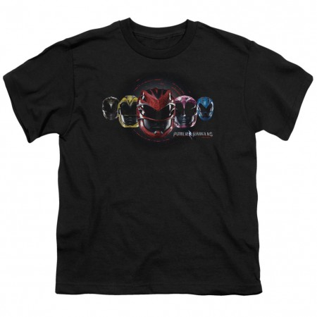 Power Rangers The Movie Helmets Youth Tshirt