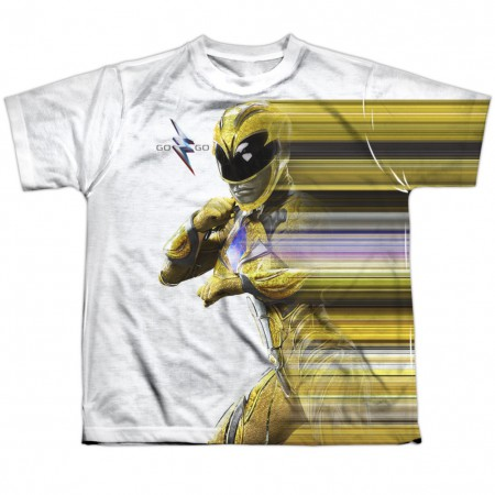Power Rangers The Movie Yellow Streak Youth Tshirt