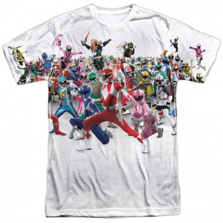 Power Rangers Every Generation Tshirt