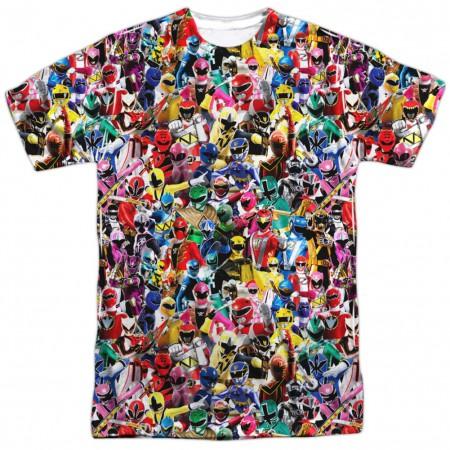 Power Rangers Crowd of Heroes Tshirt