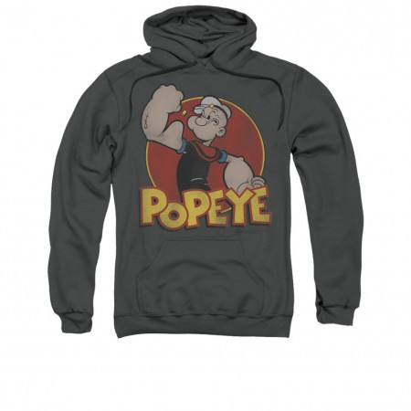 Popeye Classic Gray Pullover Hoodie