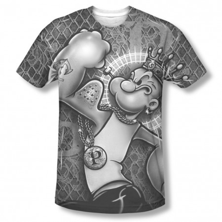 Popeye Spinach King Sublimation T-Shirt