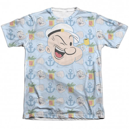 Popeye Symbols Sublimation T-Shirt
