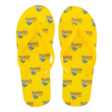 Pacifico Logo Yellow Men's Sandals