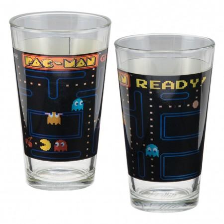 Pacman Pint Glass Set