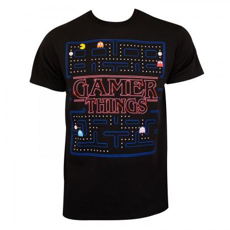 Pac Man Men's Black Gamer Things T-Shirt