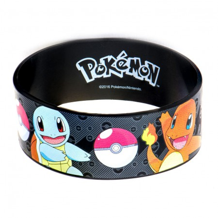 Pokemon Black Rubber Group Bracelet