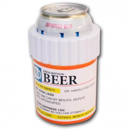Prescription Bottle Novelty Can Cooler