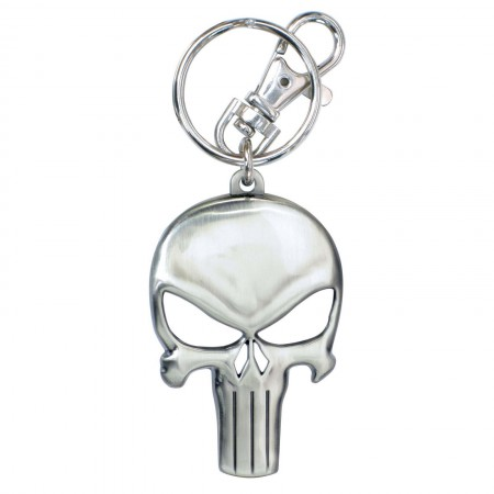 Punisher Metal Skull Logo Keychain