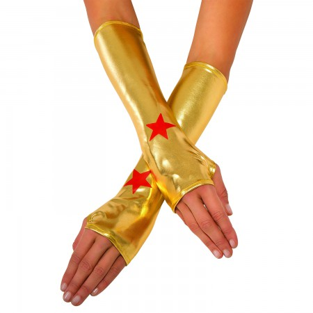 Wonder Woman Gold Adult Costume Wrist Gauntlets