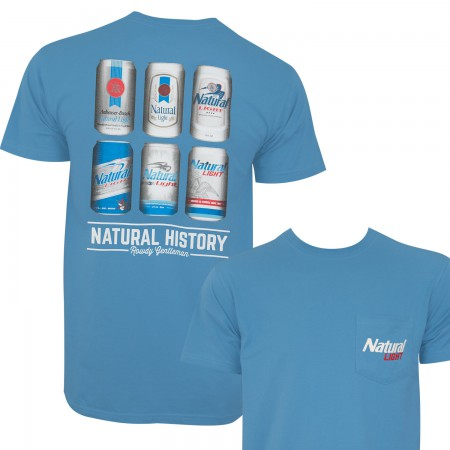 Natural Light Men's Blue Natural History Rowdy Gentleman T-Shirt