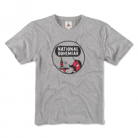 National Bohemia Beer Men's Grey T-Shirt