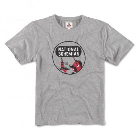 National Bohemia Beer Men's Grey T-Shirt