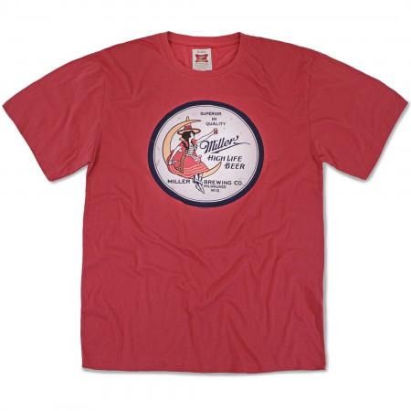 Miller High Life Girl in The Moon T-Shirt