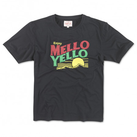 Mellow Yellow Logo Men's Black T-Shirt