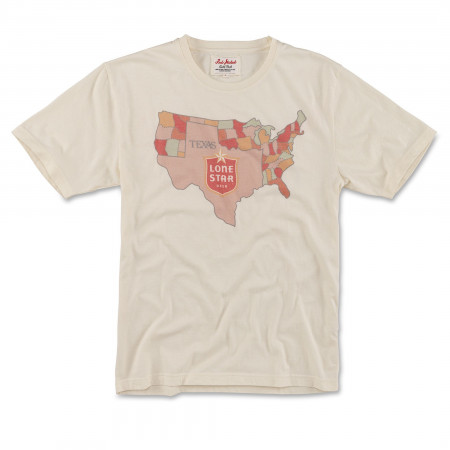 Lone Star USA Faded White T-Shirt