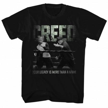 Rocky Embrace The Legacy  Black TShirt