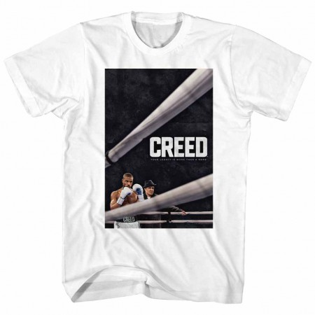 Rocky Creed Poster Mens White T-Shirt