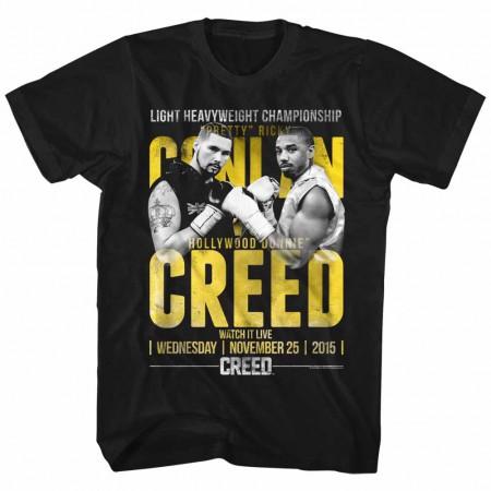 Rocky Conlan Vs Creed  Mens Black T-Shirt