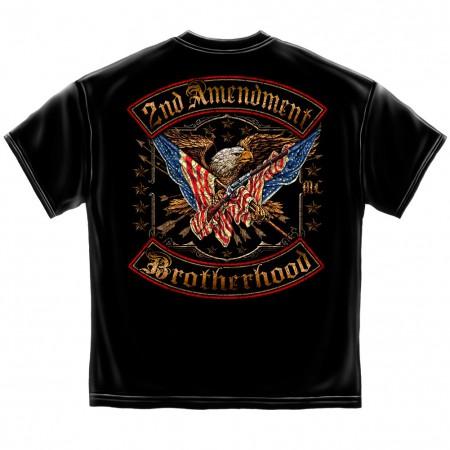 Patriotic 2nd Amendment Brotherhood Men's Black T-Shirt