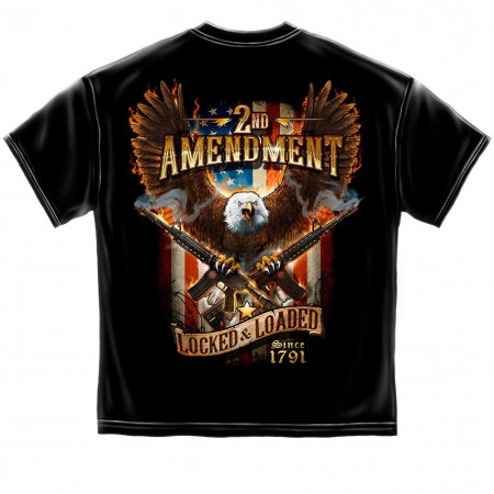 2nd Amendment Locked and Loaded Tshirt