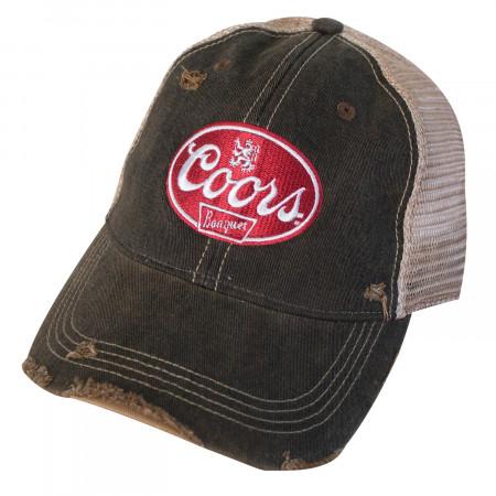 Coors Banquet Torn Mesh Retro Brand Trucker Hat