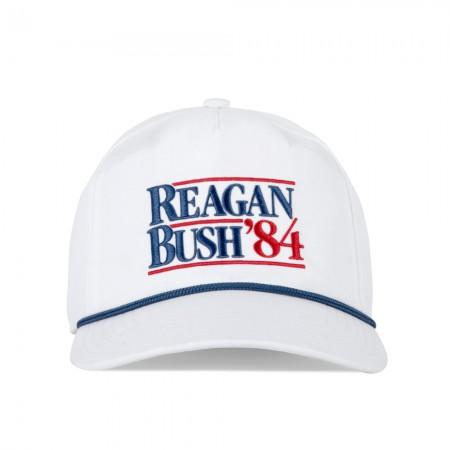 Reagan Bush '84 White Snapback Hat