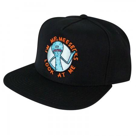 Rick And Morty Men's Black Mr. Meeseeks Snapback Hat
