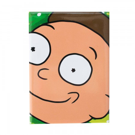 Rick And Morty Square Close Up Morty Magnet