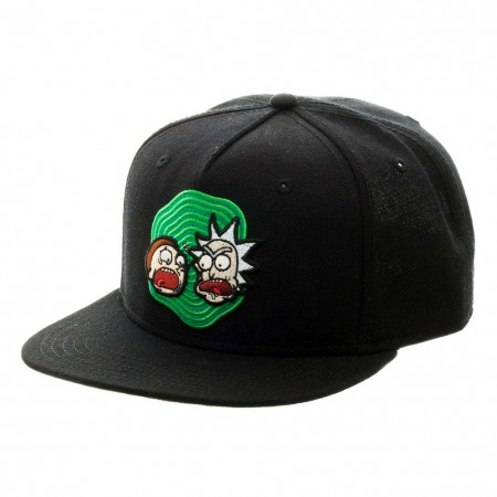 Rick And Morty Black Snapback Hat